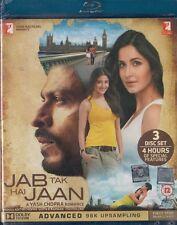 JAB TAK HAI JAAN 3 DISC BLU-RAY & DVD ORIGINAL BOLLYWOOD SET -Sharukh Khan Khan.