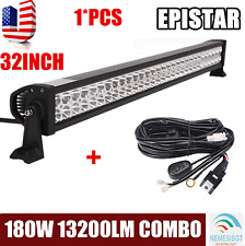 32Inch 180W LED Light Bar Off road Driving Fog Light Combo With Free Wiring Kit