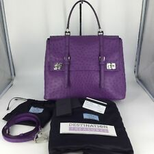 Prada Harrods London Purple Ostrich Bag Pradasphere Cross Strap Harrods Charm