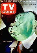 TV Guide 1957 Alfred Hitchcock #244 Albert Hirschfeld Lucille Ball Zorro VG COA