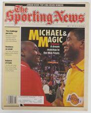 1991 Sporting News Michael Jordan & Magic Johnson NBA Finals US#696