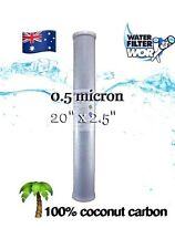 """WATER FILTER REPLACEMENT CARTRIDGE 20"""" X 2.5"""" SKINNY BIG BLUE 0.5 MICRON HOUSE ✅"""