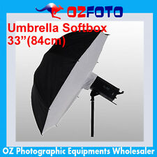 "Premium Umbrella Softbox Soft Brolly Box Reflector Studio 33""/84cm Brand New!"