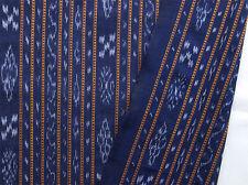 Navy Blue Orissa, Ikat Cotton Hand-Dyed & Hand-Woven Odisha Homespun Fabric