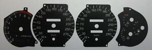 Lockwood Toyota Celica GT4 ST205 KMH BLACK Dial Conversion Kit C455
