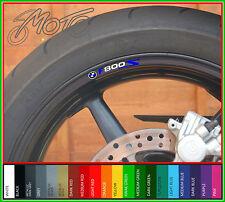 8 X Bmw F800s Rueda Llanta Calcomanías Stickers-F 800 S