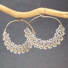Seychelles 118 ~ Hoop Earrings with Pearl Color & Metal Choice