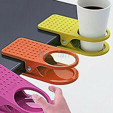 HOT!CUP HOLDER MUG GLASS HOOK CLIP DESK TABLE CLAMP FOLDER HOME OFFICE SUPPLIES