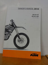 KTM OWNERS MANUAL FOR 2010 450 SX-F EU & USA, 3211482 new from closed dealer