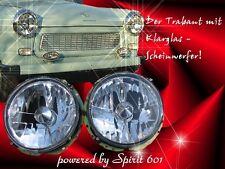 """Klarglas Scheinwerfer Trabant 601 & 1.1 für 12V """"Clear""""! Super Stylish! Top"""