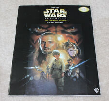 JOHN WILLIAMS STAR WARS COMPOSER HAND SIGNED EPISODE ONE SHEET MUSIC BOOK w/COA