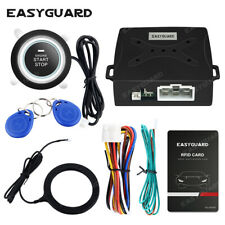 EASYGUARD Universal RFID car alarm system push button start keyless go alarm 12V