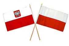 "12x18 12""x18"" Wholesale Combo Polish Polska & Poland Eagle Stick Flag"