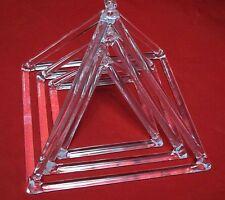 3 pcs Clear Quartz Crystal Singing Pyramid 8'' 9'' 10''-Crystal Singing Bowls