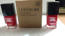 Cover Girl Nail Polish (2 Pack) BNIB ~EVER REDDY #175~ Free Ship, Trusted Seller
