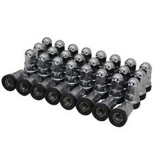 Set of 32 Chrome 14x1.5 Washered Lug Nuts Fits Ford® 8 Lug Harley Cap CP