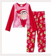 Elf On The Shelf Fleece Pajama Long Sleeve Shirt Pjs Set Girls Clothes Size 4 4t
