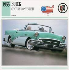 1955 BUICK CENTURY CONVERTIBLE Classic Car Photograph / Information Maxi Card