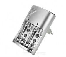 Caricabatterie Per Pile Ricaricabili Carica Batteria Aa Aaa 9v Stilo Mini Linq