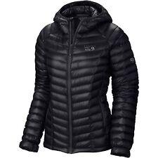 NEW Mountain Hardwear Womens L Large Ghost Whisperer Hooded Down Jacket Black