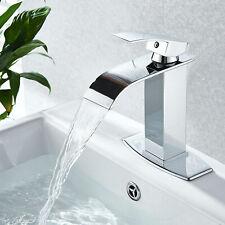 Waterfall Bathroom Faucet Single Handle/Hole Bath Sink Faucet Chrome Mixer Tap