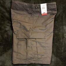 New Large Tru-Spec Shorts Tactical Cargo Pockets Black Ripstop Zip Fly 5554 Mens