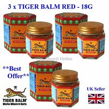 3 TIGER BALM RED -Relief from Headaches, Muscular, Joint Aches & Body Pain -21ml