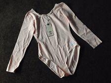 NEW ASOS FREDDY Body Bodysuit Long Sleeved Pink size M