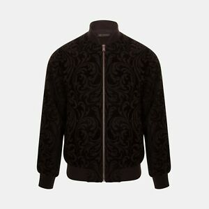 Versace Jacquard Baroque Bomber Jacket In Black RRP £960 *SOLD OUT WORLDWIDE🌍*
