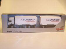 """Herpa MB Axor Wechselbrücken-Hängerzug """" Schenker Stinnes Logistics """""""