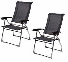 X2 (PAIR) Dukdalf Aspen Folding Caravan Chair Grey - 2017 Model -