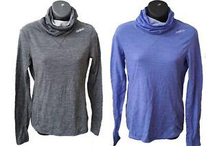 Odlo Womens Revolution Warm Merino Wool High Roll Neck Base Layer Top