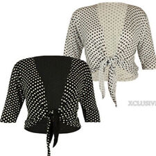 3/4 Sleeve Cropped Jumper & Cardigan Plus Size for Women