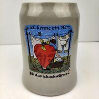 Vintage West Germany Beer Stein Stoneware Mug Lady Butt
