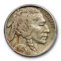 1917 S 5C Buffalo Nickel PCGS XF 40 Extra Fine Better Date Original Toned