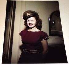 SHIRLEY TEMPLE /  LOVELY  8 x 10  COLOR  PHOTO