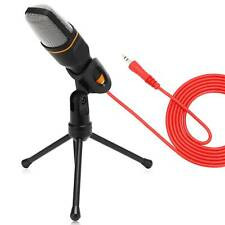 More details for microphone mic kit jack condenser studio w/ tripod stand for pc laptop recording