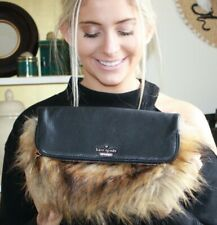 Kate Spade Evening Belles Steffe Clutch - Leather and Faux Fur