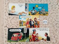 Lot of 5 Funny Novelty Risque ADULT Unused Bamforth Postcards #17