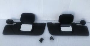 🚘2005-2009 Ford Mustang CONVERTIBLE Sun Visor Set Charcoal Cloth With Clips OEM