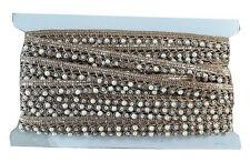 Lace Border Trim Saree Ribbon Craft Copper Silver Offwhite Tassle 9 mtr Inhika