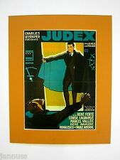 Età cinematografico pressione dietro PASSEPARTOUT Judex France René Ferté 50x40cm 390