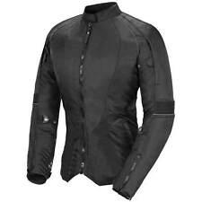 Black Women Motorbike Motorcycle Ladies Waterproof Cordura Jacket Protection S