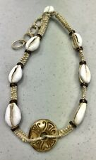 12 Piece Lot Hemp Cowry Shell & Coco Bead Necklaces Wholesale Jewelry