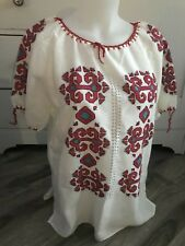 Vtg 70's Embroidered Ethnic Hippy Boho Tunic Top Womens Size Large