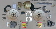 "1961-1971 DODGE D100 FRONT POWER DISC BRAKE KIT - 11.75"" Drilled and Slotted"