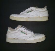 baa7dc993c39 Vintage 1990s Original Reebok Classic Green White Low Top Sneakers Size 8