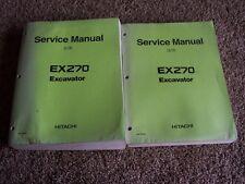Hitachi Excavator EX270 EX 270 Factory Original Service Shop Repair Manual Set