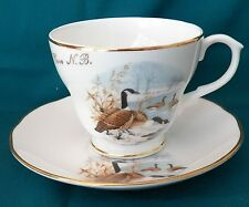 CROWN WARWICK FINE BONE CHINA MADE IN ENGLAND TEA CUP & SAUCER, WHITE COVE, N.B.