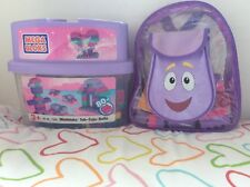 Dora megabloks backpack carry case school and under the sea Playset & extra box
